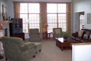 Living Room Area of Suite at Meadow Ridge Resort
