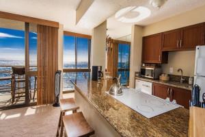 Vacation rental kitchen at Great Vacation Retreats.