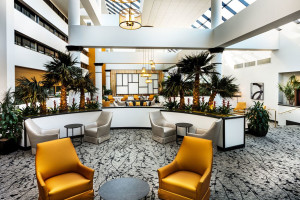 Lobby at Wyndham Houston West Energy Corridor