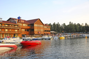 Exterior view of Breezy Point Resort.