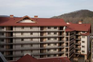 Outdoor pool at Holiday Inn Club Vacations Smoky Mountain Resort.