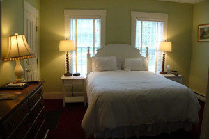 Guest room at Three Stallion Inn.