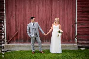 Wedding couple at The Red Clover Inn & Restaurant.