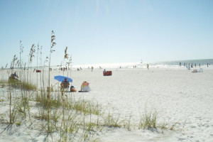 The beach at Gulf Winds Resort Condominiums.