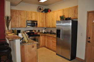 Condo kitchen at Ruidoso River Resort and Inn.