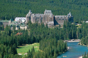 Exterior view of The Fairmont Banff Springs.