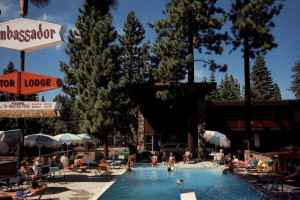 Outdoor Pool at Ambassador Motor Lodge