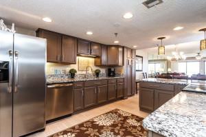 Guest kitchen at Brooks and Shorey Resorts, Inc.