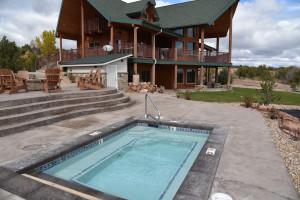 Outdoor pool at Six Lakes Resort.