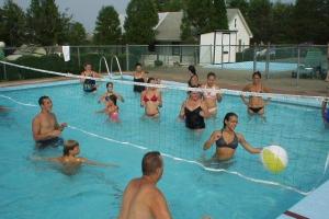 Outdoor pool at Acra Manor Resort.