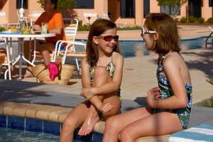 Kids at Pool at Seachase