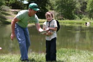 Fishing at Elk Mountain Ranch.