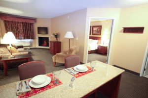 King suite at Perham Crossings.
