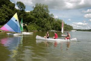 Water activities at Woodlawn Resort.