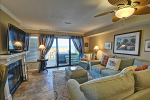 Vacation rental living room at Intracoastal Realty.