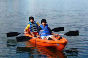 Canoeing at Dickerson's Lake Florida Resort.