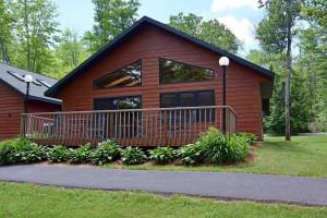Cabin exterior at Timber Cove.