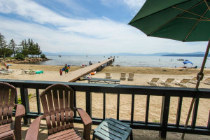 Vacation deck view at Vacasa Rentals Lake Tahoe.