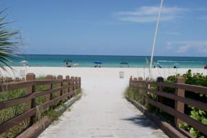 Sandy beach ocean view at Westgate.