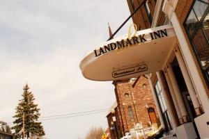 Exterior view of The Landmark Inn.