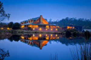 Exterior view of Cradle Mountain Lodge.