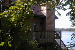 Cabin exterior at Birch Bay Resort Inn.