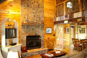 Cottage living area at Berkeley Springs Cottage Rentals.