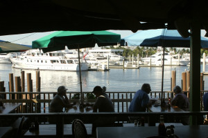 Restaurant view at Bahia Cabana Beach Resort & Marina.