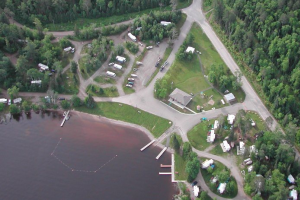 Arial View at McKinley Park Campground