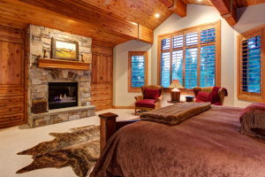 Vacation rental bedroom at SkyRun Vacation Rentals - Park City, Utah.