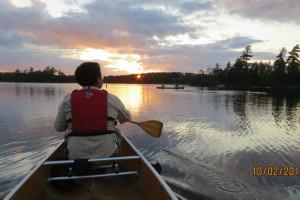 Canoeing at Moose Track Adventures Resort.