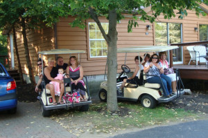 Golf cart rentals at Island Club Rentals.
