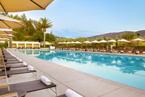 Outdoor pool at Solage Calistoga.