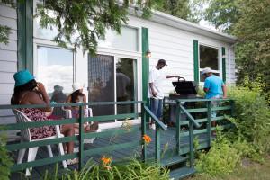 Cabin exterior at Elmhirst's Resort.
