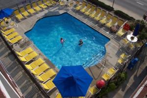 Outdoor pool at Sea Hawk Motel.