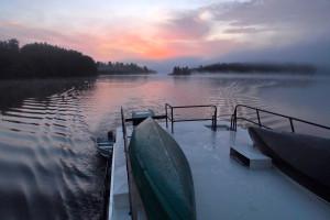 Lake view at Ebel's Voyageur Houseboats.