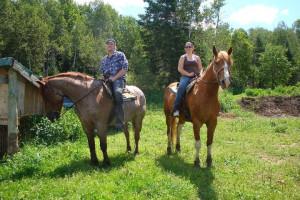 Horseback riding at The Couples Resort.