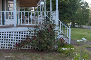 Porch at Antique Rose Inn Windham.