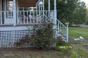 Porch at Antique Rose Inn Windham.