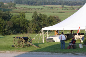 Civil war reenactment at The Lodges at Gettysburg.