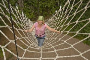 Rope course at Essex Resort & Spa.