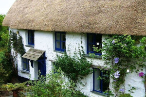 Cottage exterior at Trelowarren.