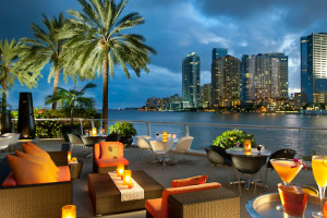 Patio view at Mandarin Oriental, Miami.