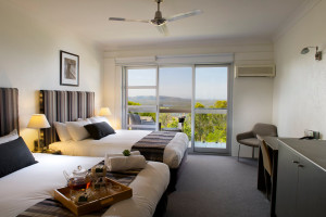 Guest room at Clear Mountain Health and Conference Centre.