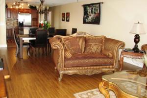 Resort rental living room at Travel Resort Services, Inc.