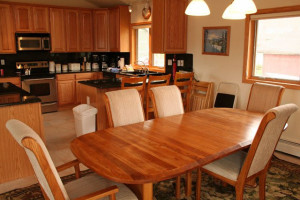 Vacation rental kitchen at Americana Resort Properties.