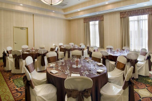 Wedding reception at Hilton Garden Inn Cleveland East/Mayfield Village.