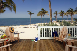 Beach deck at Tranquility Bay Beach House Resort.