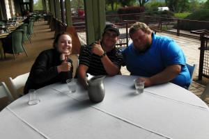Group dining at Greenhorn Creek Resort.