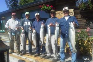 Family fishing at Blackfish Lodge.